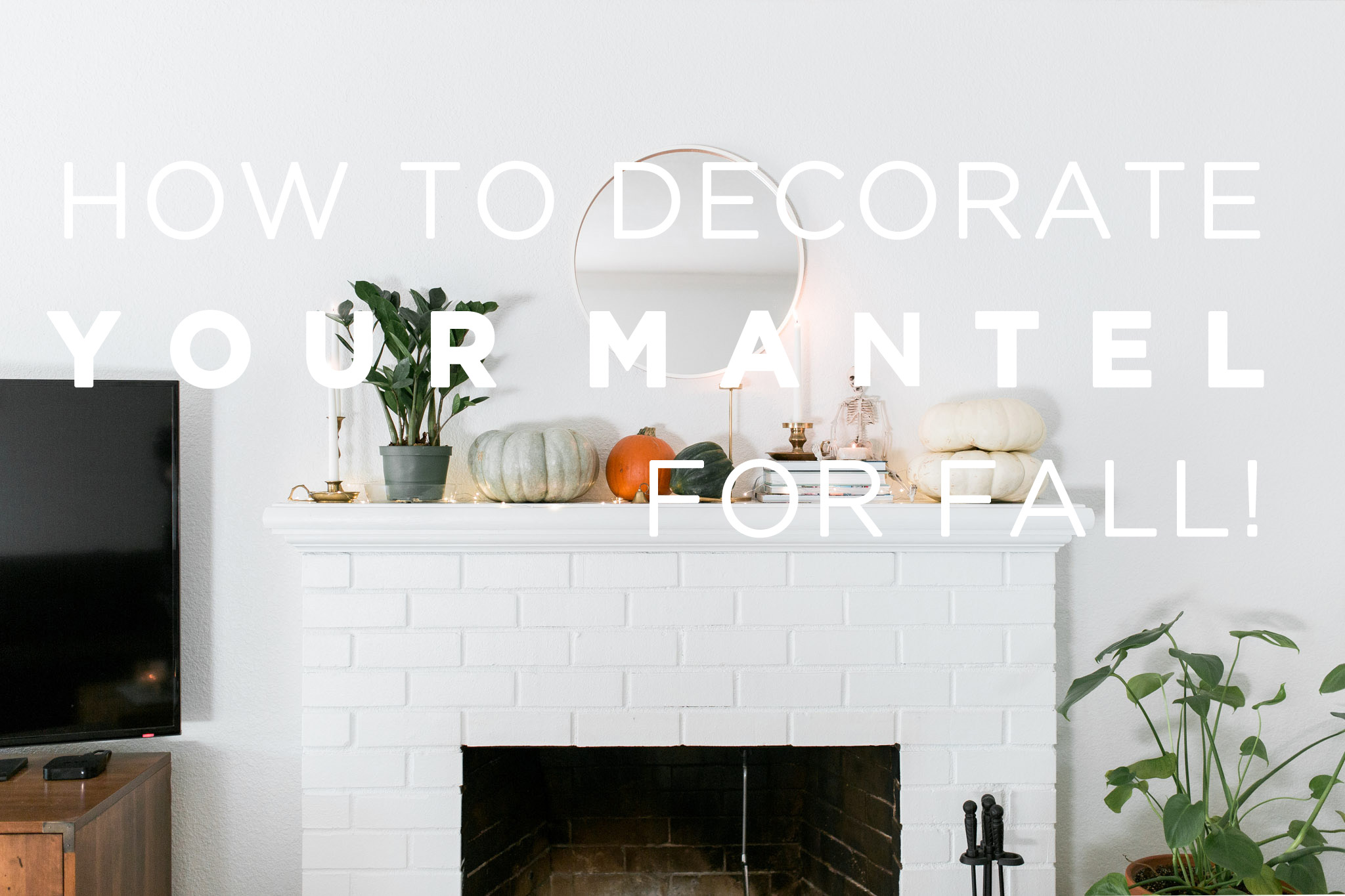 how to decorate your mantel for fall a video nicole